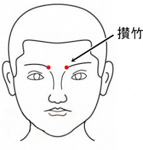 経絡経穴 足の太陽膀胱経 攅竹