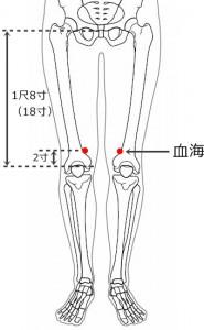 経絡経穴 足の太陰脾経 血海