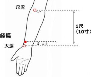 経絡経穴 手の太陰肺経 経渠