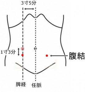 経絡経穴 足の太陰脾経 腹結
