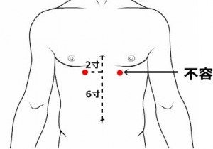 経絡経穴 足の陽明胃経 不容