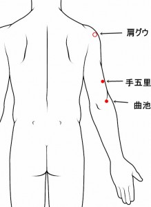 経絡経穴 手の陽明大腸経 手五里