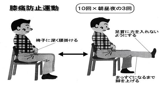膝痛防止運動