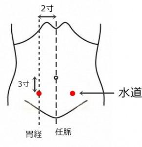 経絡経穴 足の陽明胃経 水道